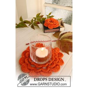 Pumpkin Blossom by DROPS Design - Halloween Pynt Virkmönster