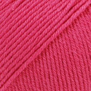 Drops Cotton Merino Garn Unicolor 14 Cerise