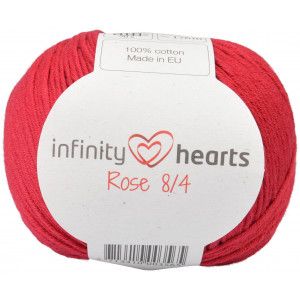 Infinity Hearts Rose 8/4 Garn Unicolor 21 Vinröd