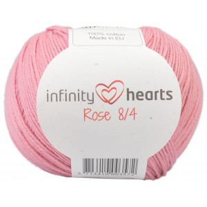 Infinity Hearts Rose 8/4 Garn Unicolor 27 Ljus Gammelrosa