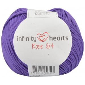 Infinity Hearts Rose 8/4 Garn Unicolor 56 Mörk Lila