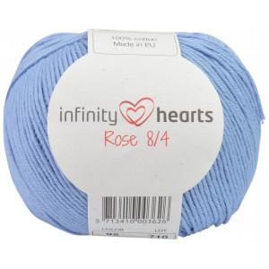Infinity Hearts Rose 8/4 Garn Unicolor 92 Ljus Jeansblå