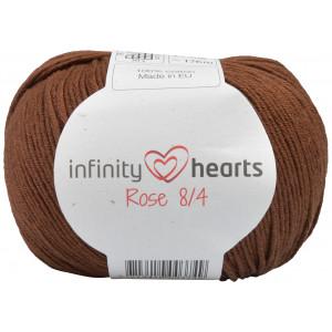 Infinity Hearts Rose 8/4 Garn Unicolor 228 Mörkbrun