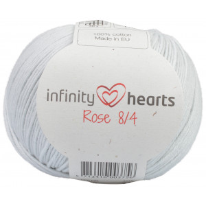 Infinity Hearts Rose 8/4 Garn Unicolor 230 Pärlgrå