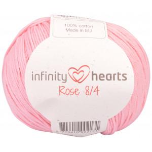Infinity Hearts Rose 8/4 Garn Unicolor 05 Ljus Rosa