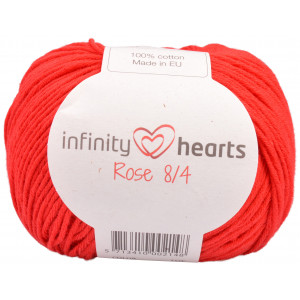 Infinity Hearts Rose 8/4 Garn Unicolor 19 Röd