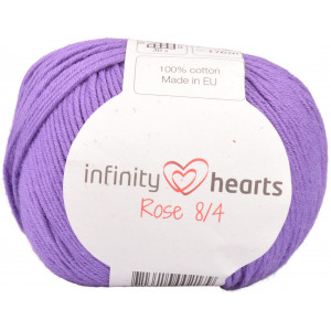 Infinity Hearts Rose 8/4 Garn Unicolor 69 Lila
