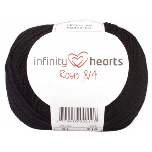 Infinity Hearts Rose 8/4 Garn Unicolor 01 Svart