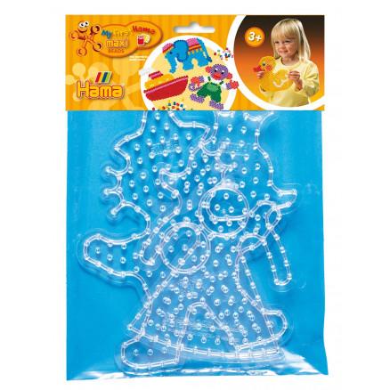 Hama Maxi Pärlplatteset 8266 Clown   Prinsessa - 2 st - Rito.se 8cffdba90810a