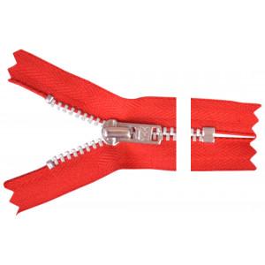 YKK Blixtlås Aluminium 22cm 4mm Röd