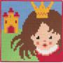 Permin Broderikit Påritad Stramalj till Barn Prinsessa 25x25cm
