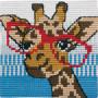 Permin Broderikit Påritad Stramalj till Barn Giraff 25x25cm