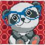 Permin Broderikit Påritad Stramalj till Barn Panda 25x25cm
