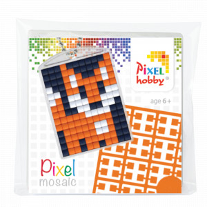 Pixelhobby Presentask Nyckelringsset Räv 3x4cm