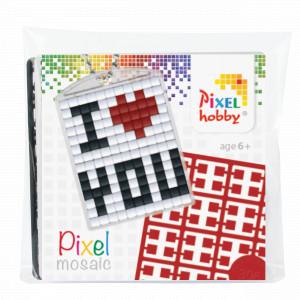 Pixelhobby Presentask Nyckelringsset I Love You 3x4cm