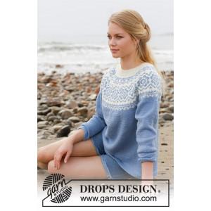 Periwinkleby DROPS Design - Bluse Strikkeopskrift str. S - XXXL