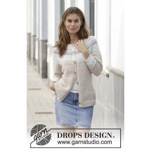 Nougat Cardigan by DROPS design - Jacka virkmönster