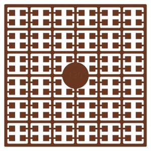 Pixelhobby Midi Pärlor 130 Mörk Mahognybrun 2x2mm - 144 pixels