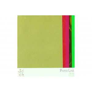 Papper Mix Guld, Röd & Grön A4 - 5 ark
