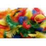 Fjädrar/Dun Ass. färger 5-8cm - ca. 7g