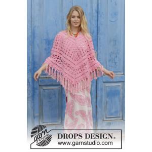 Mamma Mia by DROPS Design - Poncho Virk-mönster str. S/M - XXL/XXXXL