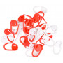 Infinity Hearts Maskmarkörer Röd/Vit 22mm - 30 st