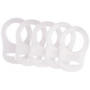 Infinity Hearts Napphållare Adapter Vit 5x3cm - 5 st