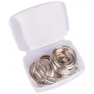 Køb Infinity Hearts Nyckelring Tunn Silverfärgad i plastlåda5-50mm – 50 st