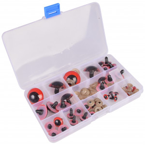 Køb Infinity Hearts Säkerhetsögon/amigurumiögon i plastlåda Röd 8-30mm – 1