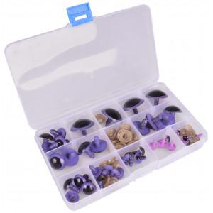Køb Infinity Hearts  Säkerhetsögon/amigurumiögon i plastlåda Lila 8-30mm –