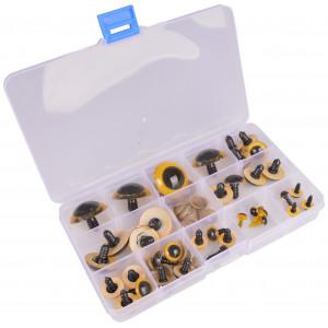 Køb Infinity Hearts Säkerhetsögon/amigurumiögon i plastlåda Gul 8-30mm – 1