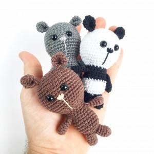 Tiny Bears av Unkeldesign - DANSKT Virkmönster amigurumi 10cm - 3 st