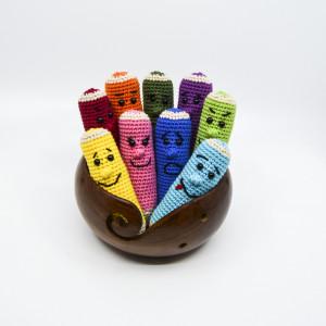 Färgpennor av KreaLoui - Färgpennor Virkmönster 11 cm - DANSKT mönster