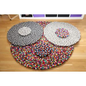 Matta av filtkulor Mönster av Rito Krea - DIY-matta 20-200 cm