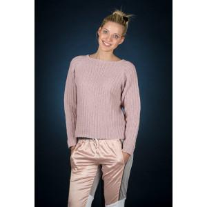 Mayflower Rosa raglantröja - Sweater Stickmönster str. S - XXXL