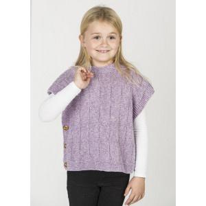 Mayflower Poncho-vest i Melerat Mönster - Poncho Stickmönster str. 2-10 år