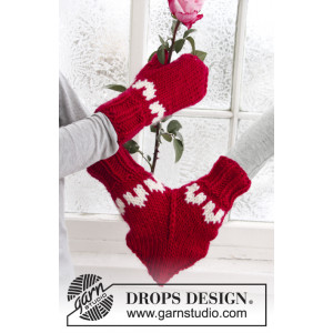 Love Glove by DROPS Design - stickmönster Tumvantar str. S - M/L