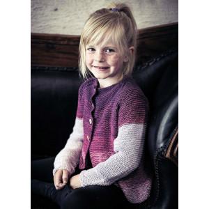 Mayflower flerfärgade tjejtröjor med knappar - Cardigan stickmönster str. 4//6 - 8/10 år