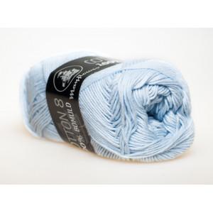 Mayflower Cotton 8/4 Garn Unicolor 1479 Ljusblå