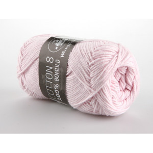 Mayflower Cotton 8/4 Garn Unicolor 1488 Ljus Rosa