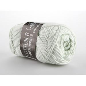 Mayflower Cotton 8/4 Garn Unicolor 1486 Ljus Mintgrön