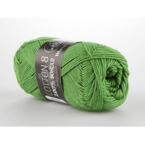 Mayflower Cotton 8/4 Garn Unicolor 1476 Gräsgrön