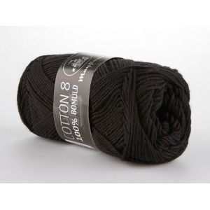 Mayflower Cotton 8/4 Garn Unicolor 1443 Svart