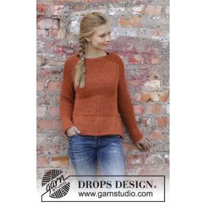 Last Days of Autumn by DROPS Design - Blus stickmönster str. S - XXXL