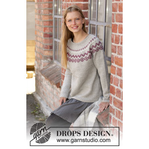 Old Mill Pullover by DROPS Design - Blus stickmönster str. S - XXXL