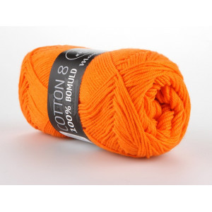 Mayflower Cotton 8/4 Garn Unicolor 1406 Orange