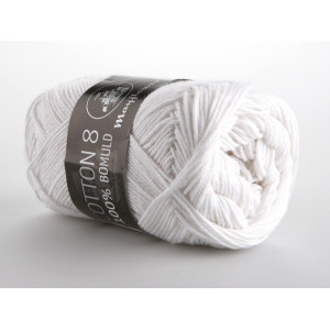 Mayflower Cotton 8/4 Garn Unicolor 1402 Vit