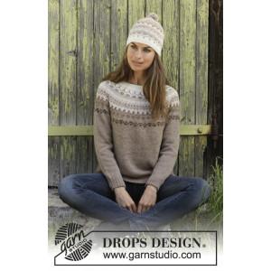 Talvik by DROPS Design - Blus stickmönster str. S - XXXL