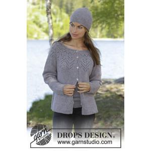 Agnes by DROPS Design - Jacka stickmönster str. S - XXXL