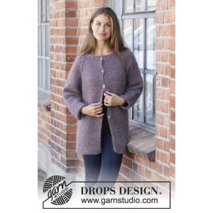 Simple Mind Jacket by DROPS Design - Jacka stickmönster str. S - XXXL